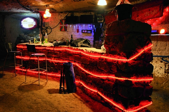 A bar underneath Paris' city streets, in the Catacombs